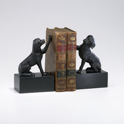 Cyan Dog Bookends S/2 Old World 02817 - Cyan Dog Bookends S/2 Old World 02817