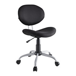 Modway Furniture - Modway Gina Office Chair in Black - Office Chair in Black belongs to Gina Collection by Modway Make your office space work for you without the work. Let the simple sleek design guide you through a comfortable day at the office. Set Includes: One - Gina Task Office Chair Officce Chair (1)
