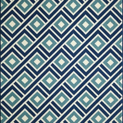 """Momeni - Contemporary Baja 7'10""""x10'10"""" Rectangle Blue Area Rug - The Baja area rug Collection offers an affordable assortment of Contemporary stylings. Baja features a blend of natural Green color. Machine Made of 100% Polypropylene the Baja Collection is an intriguing compliment to any decor."""
