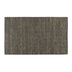 Taryn 8 X 10 Chevron Rug - *Rescued Sueded Black Leather And Natural Jute Hand Woven In A Subtle Chevron Pattern. This Rug Is Not Recommended For High Traffic Areas.