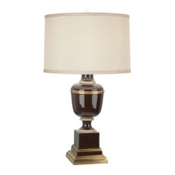 Robert Abbey - Robert Abbey Mary McDonald Annika Accent Lamp 2506X - Chocolate Lacquered Paint and Natural Brass