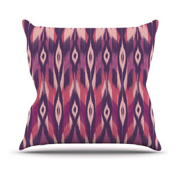 """Kess InHouse - Amanda Lane """"Purple Ikat"""" Pink Lavender Throw Pillow (20"""" x 20"""") - Rest among the art you love. Transform your hang out room into a hip gallery, that's also comfortable. With this pillow you can create an environment that reflects your unique style. It's amazing what a throw pillow can do to complete a room. (Kess InHouse is not responsible for pillow fighting that may occur as the result of creative stimulation)."""