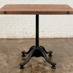 VR42 Square Bistro Table - District 8. 33w x 33d x 30h. Available for order at Warehouse 74.