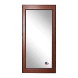 Rayne Mirrors - American Made Rayne Western Rope Floor Mirror - Upgrade your d�cor with this handsome country style speckled rope floor mirror. Its warm rustic charm is a perfect companion to farmhouse, western or even cabin d�cor.  Perfect to lean or hang. Rayne's American Made standard of quality includes; metal reinforced frame corner support, both vertical and horizontal hanging hardware installed and a manufacturers warranty.