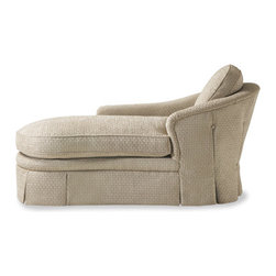 Modern Chaise Lounger - I can see lots of lazy afternoons reading and napping on this overstuffed chaise.  The color is soft and soothing, perfect for any decor.