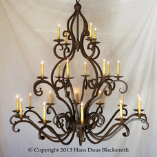 Mediterranean Chandeliers by Hans Duus Blacksmith Inc.