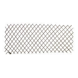 """Master Garden Products - Set of 2 Pcs Peeled Willow Expandable Lattice Fence, Light Mahogany, 72""""w X 48""""h - Our peeled willow flex lattice fence is very versetile, it can be installed as a fence panel as well as a divider to segregate certain parts of your landscape. The diamond opeing trellis can be installed vertically or horizontally. It can be extended to your desired size and open pattern. Classic willow flex lattice fence are perfect for training vines and vegetables, supporting tomatoes, and more. The light mohogany color peeled willow sticks that are used are about 1/4 to 3/8 thick that are held together with nails. The height of our standard measurement in our pricing is when the fence is expended to 72 wide. The height may vary depending on the width of your extension in practical use. We have a few different sizes for you to choose from. Key Features Expandable to different heights and lengths to suit your needs. Flexible enough to form a circle. Use them as lattice fences, easy installation. Can be tied to supporting structure. Provides an elegant silhouette to your home and garden. Skinless, steam processed and dry willow sticks used are about 1/4 to 3/8 thick. We recommend putting a coat of linseed oil or outdoor sealer to preserve peeled skin willow product outside."""