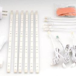 LED Bar Lighting - 6 LED Strip Light Kit - Warm White - Kit Includes: