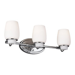 Murray Feiss - Murray Feiss Colby Transitional Bathroom / Vanity Light X-HC-30004SV - The tumbler-shaped glass shade of the Colby Collection is inspired by the soft lines of other bathroom accessories. The simple details give this transitional design a clean profile.