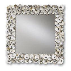 Currey & Co Oyster Shell Mirror, Square - If you can't afford a house on the coast, bring a piece of the coast to you. This stunning oyster shell mirror adds a unique natural texture and will reflect the light. I think it couldn't be better even if it were made of pearls.