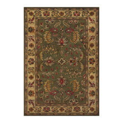 """Couristan - Castello Westminster Rug 4280/0118 - 3'6"""" x 5'6"""" - These designer area rugs work best in traditional room-settings. Add darker wooden framed furniture with floral or striped fabrics. Always use the color palette of the area rug as your guide in choosing the right fabric color."""