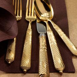 """Yamazaki Tableware - Five-Piece """"Byzantine"""" Flatware Place Setting - Yamazaki TablewareFive-Piece """"Byzantine"""" Flatware Place Setting"""