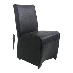 "Bellini Modern Living - Melzo Side Chair (Set of 2) - Bellini Modern Living is renowned for offering high quality and innovative furniture; passionate for providing unparalleled quality furnishings that enable individuals to express their personal style in fresh and exciting ways. Whether you're looking for dining, living or entertaining furniture your home will benefit from the exceptional collections Bellini has to offer. The Melzo side chair has a contemporary style that will enhance any dining area. Features: -Side chairs.-Contemporary style.-Cushioned seat and back.-Small handle in the back.-Four casters allow for easy placement of the chair.-Seat height is 19''.-Cushioned with CFS foam for outstanding comfort and superior durability.-Can be used as a dining chair or as an accent chair.-Distressed: No.-Collection: Melzo.-Finish: Brown.-Powder Coated Finish: No.-Gloss Finish: No.-Number of Items Included: 2 Chairs.-Non-Toxic: Yes.-Scratch Resistant : No.-Fire Retardant: Yes.-Arms Included: No.-Upholstered Seat: Yes -Seat Upholstery Color: Brown.-Removable Seat Cushions: No.-Seat Cushion Fill Material: Fire retardant form.-Removable Seat Cushion Cover: No.-Tufted Seat Upholstery: No.-Welt on Seat Cushions: No..-Upholstered Back: Yes -Back Upholstery Color: Brown.-Removable Back Cushions: No.-Back Cushion Fill Material: Fire retardant form.-Removable Back Cushion Cover: No.-Tufted Back Upholstery: No.-Welt on Back Cushions: No..-Nailhead Trim: No.-Swivel: No.-Foldable: No.-Stackable: No.-Number of Legs: 4.-Casters: Yes.-Protective Floor Glides: No.-Adjustable Height: No.-Saddle Seat: No.-Outdoor Use: No.-Weight Capacity: 275 lbs.-Swatch Available: No.-Commercial Use: No.Dimensions: -Overall Product Weight: 20 lbs.-Overall Height - Top to Bottom: 38"".-Overall Width - Side to Side: 19"".-Overall Depth - Front to Back: 21"".Assembly: -Assembly Required: Yes.-Additional Parts Required: Yes -Parts Needed: Casters..Warranty: -Manufacturer provides one year warranty.-Product Warranty: 1 Year."