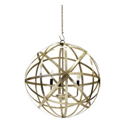 Go Home - Planetary Chandelier - Our Vintage Industrial Collection is the definition of urban chic. Reclaimed wood, rusted iron and time worn accents insure that our unique collection of furniture, accessories and lighting will take center stage in any style of decor. Mix and match with our Rural Chic and Lodge Collections for a stylish eclectic look your friends will think you paid a designer for.