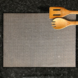 None - Silver Basketweave Placemats (Set of 6) - Color/pattern: Silver basketweaveIncludes six (6) placematsDimensions: 13 inches high x 18 inches wide