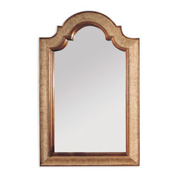 Bassett Mirror - Excelsior Wall Mirror - With textured gold, beveled edges, this arched-top mirror is the epitome of simple elegance. Hang it in your powder room, bedroom or entryway to make an exquisite statement.