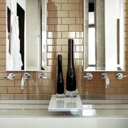 """Bathrooms - Crossville Glass Blox 2""""x4"""" G086 Desert Dawn"""