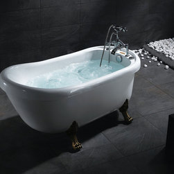 Ariel BT-062 Bear Claw Whirlpool Bath Tub - This bear claw whirlpool bathtub is now available at http://www.BathroomEtc.com and http://wwww.SteamShowersInc.com Shipping is always free! SAVE 10% off, with coupon code BREBG10 on BathroomEtc or coupon SSIHZ10 online and on phone orders at SteamShowersInc.com. To order by phone, call: 800-304-3598