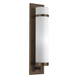 Progress Lighting - Progress Lighting P7082-20 1-Light Wall Sconce Etched Opal Glass Cylinder - Progress Lighting P7082-20 1-Light Wall Sconce Etched Opal Glass Cylinder