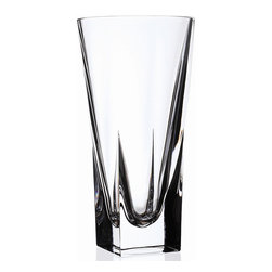 """Lorren Home Trends - RCR Fusion 12"""" Crystal Vase, By Lorren Home Trends - RCR Fusion Collection Crystal Vase Large.  This modern looking vase is made in the tuscany region of Italy.  This sleek looking crystal vase with its clean finished edges will add stlye and beauty to any home.  Measures 5.5"""" x 12"""" tall."""