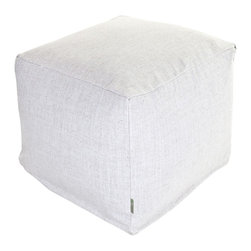 "Majestic Home Goods - Majestic Home Goods Wales Small Cube - ""Add style and color to your living room or bedroom with Majestic Home Goods Magnolia Wales Small Cube Ottoman. This cube is perfect for use as a footstool, side table or as extra seating for guests. Woven from 95% polyester/5% linen, these cube ottomans are durable yet comfortable. The beanbags are and feature a zippered slipcover. Spot clean slipcover with mild detergent and hang dry. Do not wash insert.17"""" L x 17"""" W x 17"""" H"""