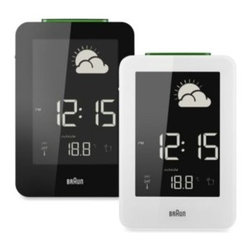 Braun - Braun Weather Station Digital Alarm Clock - Become your own meteorologist with Braun's Weather Station Digital Alarm Clock. Complete with an outdoor sensor and animated forecast display for the next 24-48 hours, this alarm clock has you covered, rain or shine.