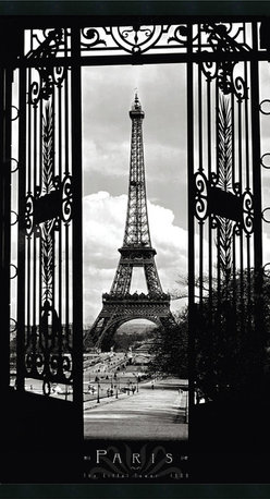Amanti Art - Eiffel Tower 1909 Framed with Gel Coated Finish - Paris, the immortal city of lights is home to one of the most beloved and recognizable symbols of the 19th Century: the Eiffel Tower. Taken from the famous Trocadero esplanade, this picture is a must for the romantic traveler in all of us.