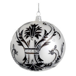 Silk Plants Direct - Silk Plants Direct Glitter Glass Ball Ornament (Pack of 2) - Pack of 2. Silk Plants Direct specializes in manufacturing, design and supply of the most life-like, premium quality artificial plants, trees, flowers, arrangements, topiaries and containers for home, office and commercial use. Our Glitter Glass Ball Ornament includes the following: