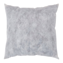 22 inch Non Woven Polyester Insert - Fill any decorative pillow with this 22-inch polyester insert. This non-woven polyester insert is the perfect solution for your pillow filling needs.