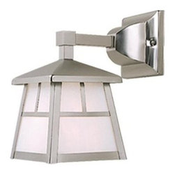Vaxcel Lighting - Vaxcel Lighting OW14663 Mission 1 Light Outdoor Wall Sconce - Features: