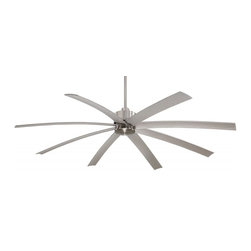 Minka-Aire - Minka-Aire Slipstream XXL Brushed Nickel Wet Ceiling Fan - F889-BNW - This Ceiling Fan is part of the Slipstream XXL Collection and has a Brushed Nickel Wet Finish.