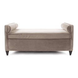 Howard Elliott - Bella Cosmopolitan Daybed - Lounge in style on our Cosmopolitan Daybed. Its sturdy size and construction make it perfect for any sitting room. With built in bolsters and large cushion you may want to take a nap! Seat height is 22.