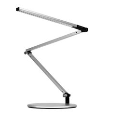 Koncept - Z-Bar Mini LED Desk Lamp, Silver, Cool Light - The Z-Bar collection broke the mold for desk and floor lamp design and introduced the world to Koncept's contemporary stylings. Our designers tossed away the bulb-and-shade for a flexible, streamlined design that contained LEDs and three simple bars. Add intuitive on/off functionality with a dimming option and the rest, as they say, is history.