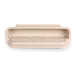 Color Match Pool Fittings - Pool Wall Step (Set of 3), Bone - Constructed from high impact ABS materials with reinforced ribs beneath the step to prevent breakage. Includes non-slip pattern on front step. Full 15-inch length as required by many states. Extra-large locking feature on outer lid. Available in 7 designer colors, including white, black, light gray, dark gray, light blue, tan, and bone. Three wall steps included per set. Proudly made in the USA.