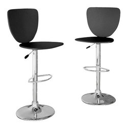 Sonax - CorLiving High Back Bar Stool in Black Leatherette (Set of 2) - Sonax - Bar Stools - B102VPD -Add spice to any bar or kitchen island with this Adjustable Bar Stool featuring a high back chair finished in Black leatherette, accented with chromed gas lift and chromed support. The contemporary design will compliment any decor setting while the gas lift offers the flexibility to adjust to a variable bar height. A great addition to any home!