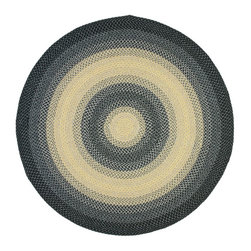 Safavieh - Braided Braided Round 6' Round Black-Grey Area Rug - The Braided area rug Collection offers an affordable assortment of Braided stylings. Braided features a blend of natural Black-Grey color. Handmade of Polypropylene the Braided Collection is an intriguing compliment to any decor.