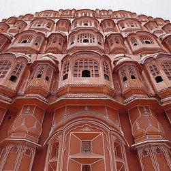 Magic Murals - India Sandstone Palace of the Winds Wallpaper Wall Mural - Self-Adhesive - Multi - India Sandstone Palace of the Winds Wall Mural