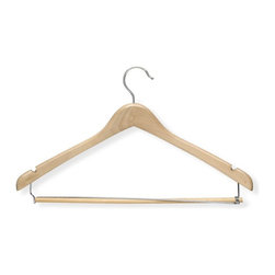 Honey Can Do International LLC - Honey Can Do Contoured Suit Hangers with Locking Bar - Set of 6 - HNGT01264 - Shop for Clothing Hangers from Hayneedle.com! About Honey-Can-DoHeadquartered in Chicago Honey-Can-Do is dedicated to helping you organize your life. They understand that you need storage solutions that are stylish and affordable at the same time. Honey-Can-Do focuses on current design trends and colors to create products that fit your decor tastes while simultaneously concentrating on exceptional quality. When buying a Honey-Can-Do product you can be sure you are purchasing a piece that has met safety control standards and social compliance methods.