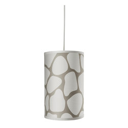 Oilo - Cobblestone Cylinder, Taupe - Cast a warm and calming light into any room with this beautiful drum shade. The classic lighting fixture comes with a 55-inch cord so you can adjust the height to your own desired length. The subtle but sophisticated design will bring personality and charm wherever it is hung.