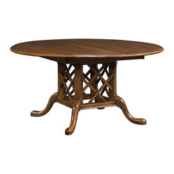 Stickley Geneva Round Dining Table with Grooved Top 53420-60-GRV