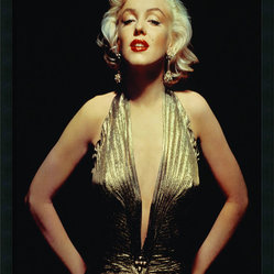 "Amanti Art - ""Marilyn Monroe (Gold)"" Framed - Bring retro Hollywood glamour to your favorite room with this Marilyn Monroe poster. Mounted on high-density fiberboard and finished with a protective coating, this stunning image comes framed and ready to hang on your wall. Made in the USA."