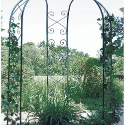 CobraCo - CobraCo 3-Sided 6-ft. wide Gazebo Arch - GAZ-G - Shop for Gazebos from Hayneedle.com! The CobraCo 3-Sided 6-ft. wide Gazebo Arch is a classic addition to any backyard or garden. Give weddings a fairy-tale beginning with this stunningly designed structure fashioned with a hunter green finish that adds a rich appeal to the natural elements of your property. The stunning scroll design can be decorated with vine-type greenery or climbing flowers and the interior of the structure is perfect for bench-style seating or additional plants and shrubs.