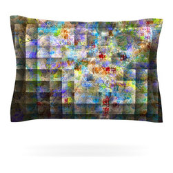 """Kess InHouse - Michael Sussna """"Yggdrasil"""" Rainbow Abstract Pillow Sham (Cotton, 30"""" x 20"""") - Pairing your already chic duvet cover with playful pillow shams is the perfect way to tie your bedroom together. There are endless possibilities to feed your artistic palette with these imaginative pillow shams. It will looks so elegant you won't want ruin the masterpiece you have created when you go to bed. Not only are these pillow shams nice to look at they are also made from a high quality cotton blend. They are so soft that they will elevate your sleep up to level that is beyond Cloud 9. We always print our goods with the highest quality printing process in order to maintain the integrity of the art that you are adeptly displaying. This means that you won't have to worry about your art fading or your sham loosing it's freshness."""