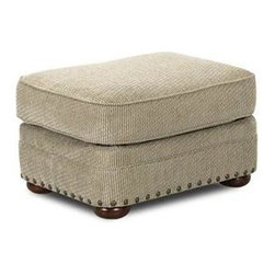 Custom Express - Tidwell Ottoman - Available in an easy to maintain chenille fabric, our Tidwell ottoman offers comfort and quality at a great price. Pair it with the matching Tidwell Chair