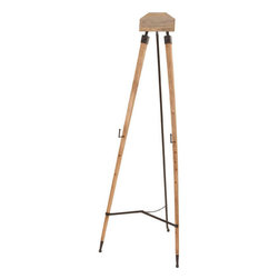 Benzara - Metal Wood Easel 63in.H, 23in.W Unique Home Accents - Made with solid wood iron alloy Size: 23 in. x23 in. x63 in.
