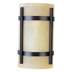 Maxim Lighting - Luna ES Contemporary Outdoor Wall Sconce - Luna EE, a contemporary style collection from Maxim Lighting, features both indoor and outdoor sconces, pendants and flush mounts available in three finishes, Brushed Metal, Natural Iron or Oil Rubbed Bronze.