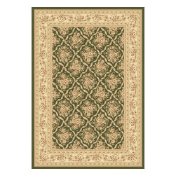 """Dynamic Rugs - Dynamic Rugs Legacy 58018-440 (Green) 6'7"""" x 9'6"""" Rug - Legacy is yet another superb collection with magnificent styling and priced to fit any budget. Legacy is densely Woven on wilton loom with high quality heat-set polypropylene that is anti-static with highest color fastness."""