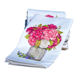 Mary Lake Thompson - Rose Linen Napkins - No need for a centerpiece with these floral beauties!