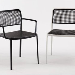 Audrey Chair 1 by Kartell - The new family of Audrey chairs adds a fabric version. A versatile contemporary chair of clean, simple