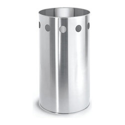 Blomus - Nexio Stainless Steel Circular Wastebin - Made of stainless steel. 1-Year manufacturer's defect warranty. 6.9 in. Dia. x 10 in. H